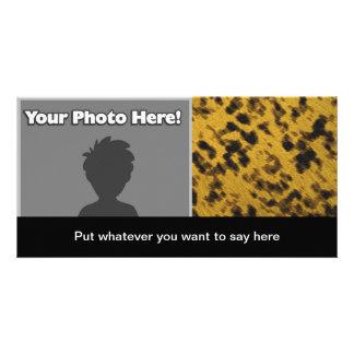 Leopard Print Photo Card Template