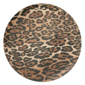 Leopard print plate