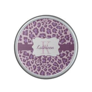 Leopard Print Purple Lavender Bumpster Speaker