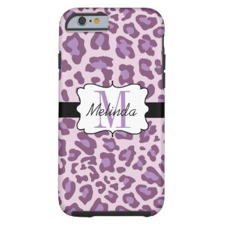 Leopard Print Purple, Lavender Tough iPhone 6 Case