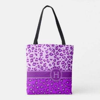Leopard print purple monogram animal print bag