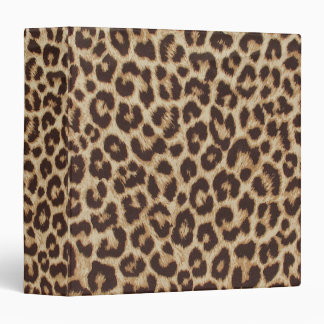 Leopard Print Recipe Binder