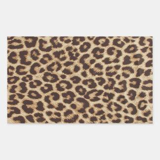 Leopard Print Rectangle Sticker