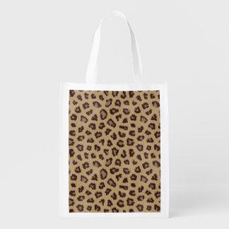 Leopard Print Reusable Grocery Bag