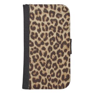 Leopard Print Samsung Galaxy S4 Wallet Case