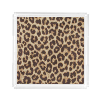 Leopard Print Serving Tray