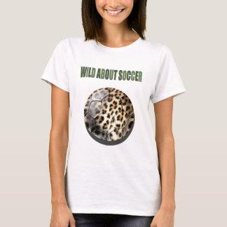 Leopard print soccer ball football fan vest T-Shirt