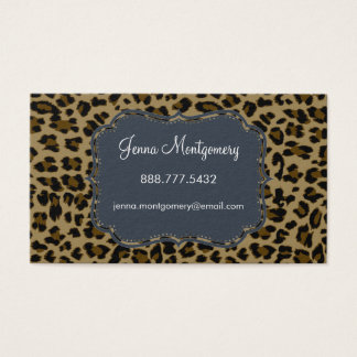 Leopard Print Standard Size Business Card