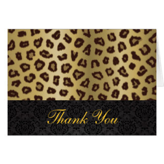 Leopard Print Thank You Card