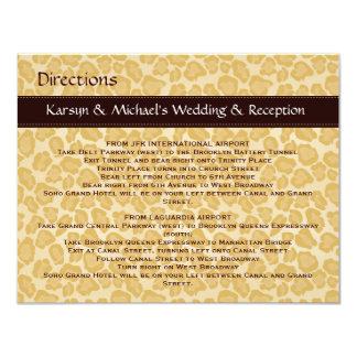 Leopard Print Wedding Directions Card Custom Invite