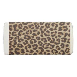 Leopard Print Wedge Eraser