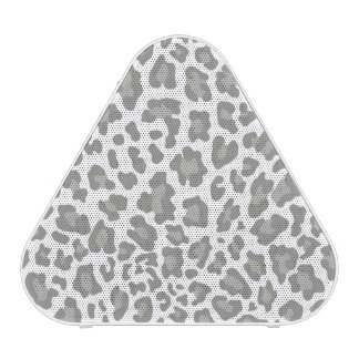 Leopard Print White and Gray Blueooth Speaker