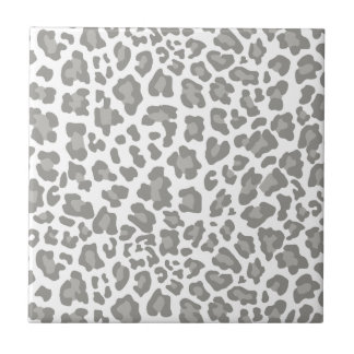 Leopard Print White and Gray Tile