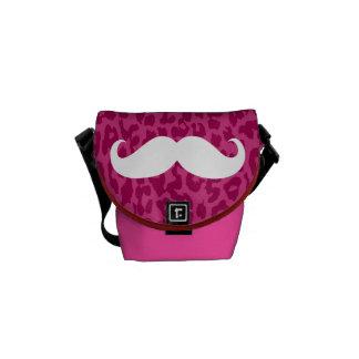 Leopard Print | White Mustache Courier Bags