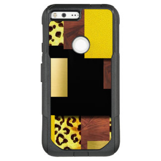 Leopard Print & Wood Collage OtterBox Commuter Google Pixel XL Case