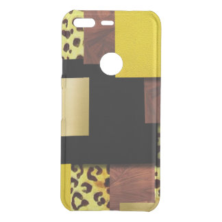 Leopard Print & Wood Collage Uncommon Google Pixel Case