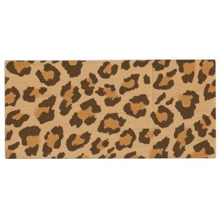 Leopard Print Wood USB Drive
