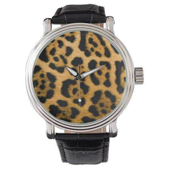Leopard Print Wrist Watch