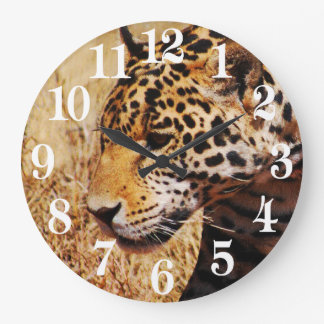 Leopard Prowling Large Clock