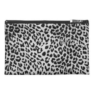 Leopard s texture black white travel accessories bags