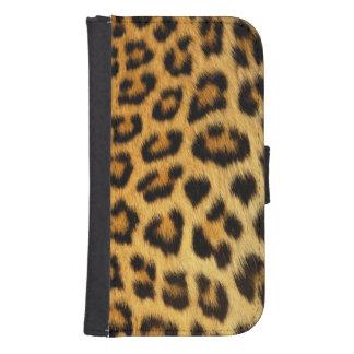 Leopard Samsung S4 Wallet Case