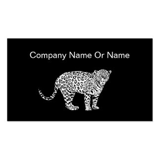 Leopard Silhouette Business Cards
