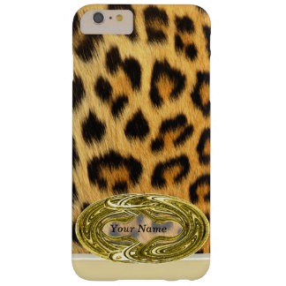 Leopard Skin Animal Print Gold Emblem Barely There iPhone 6 Plus Case