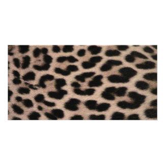 Leopard Skin background Photo Cards