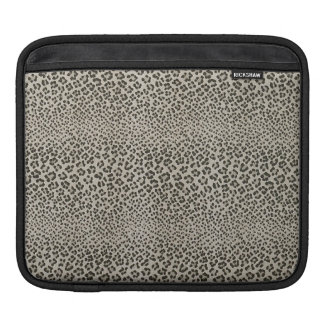 Leopard Skin Exotic Animal Print Elegant Black iPad Sleeves