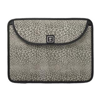 Leopard Skin Exotic Animal Print Elegant Black Sleeve For MacBook Pro