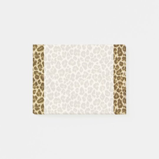 Leopard Skin Fabric Pattern Post-it Notes