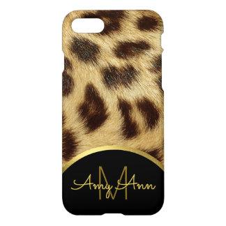 Leopard Skin Faux Fur Ladies Monogram iPhone 8 iPhone 8/7 Case