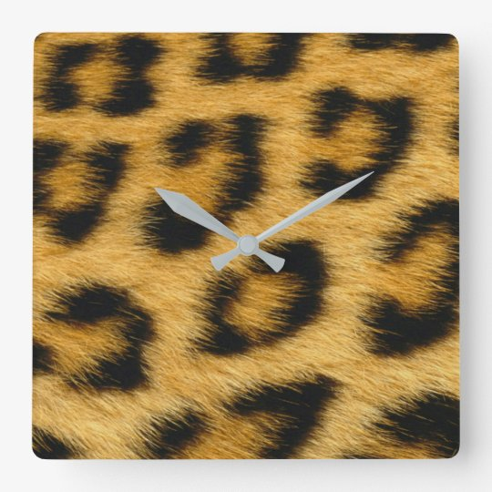 Leopard Skin, Fur, Hair Print Wallclocks