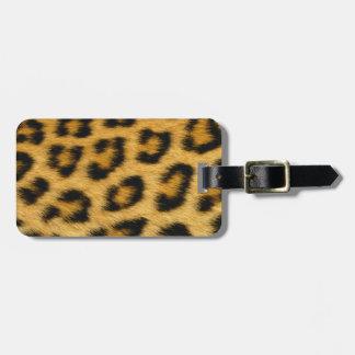 Leopard Skin Hair Print Luggage Tag