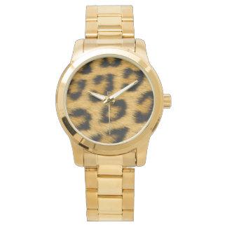 Leopard Skin Hair Print Watch