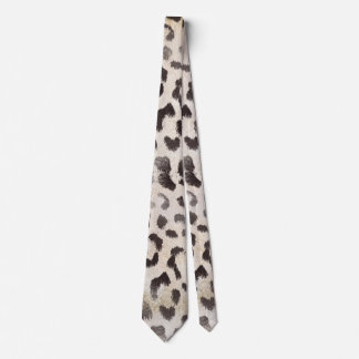 Leopard Skin Print  in Natural Ivory Tie