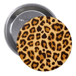 Leopard Skin Print Pattern 3 Inch Round Button