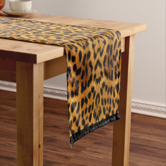 Leopard skin short table runner