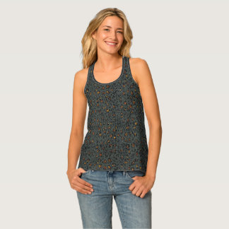 Leopard Sparkle (dark) Tank Top