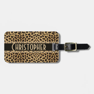 Leopard Spot Address Personalized Luggage Tag