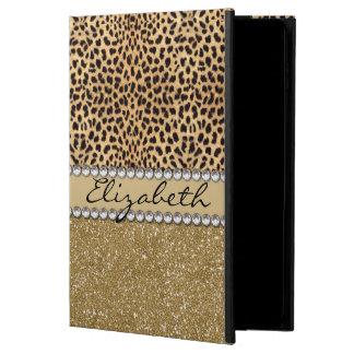 Leopard Spot Gold Glitter Rhinestone PHOTO PRINT