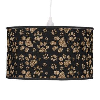 Leopard Spot Paw Prints Hanging Pendant Lamp