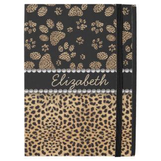 Leopard Spot Paw Prints Rhinestone PHOTO PRINT