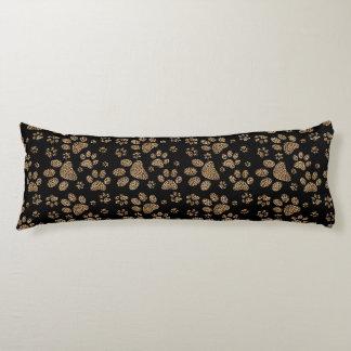 Leopard Spot Paw Prints Rhinestone PHOTO PRINT Body Pillow