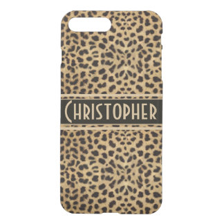 Leopard Spot Skin Print Personalize iPhone 8 Plus/7 Plus Case