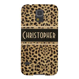 Leopard Spot Skin Print Personalized Galaxy S5 Cases