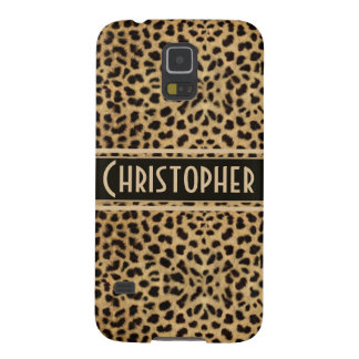 Leopard Spot Skin Print Personalized Galaxy S5 Covers