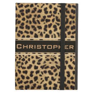 Leopard Spot Skin Print Personalized iPad Air Cover