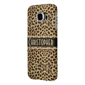 Leopard Spot Skin Print Personalized Samsung Galaxy S6 Cases