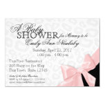 """Leopard Spots and Pink Ribbon Baby Shower 4.5"""" X 6.25"""" Invitation Card"""